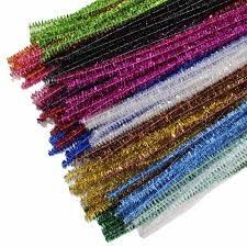 Kraftz-100-PC-6mm-12-034-30cm-CINIGLIA-PIPE-CLEANERS-Craft-STELI-fai-da-te-Art-amp-Craft miniatura 7