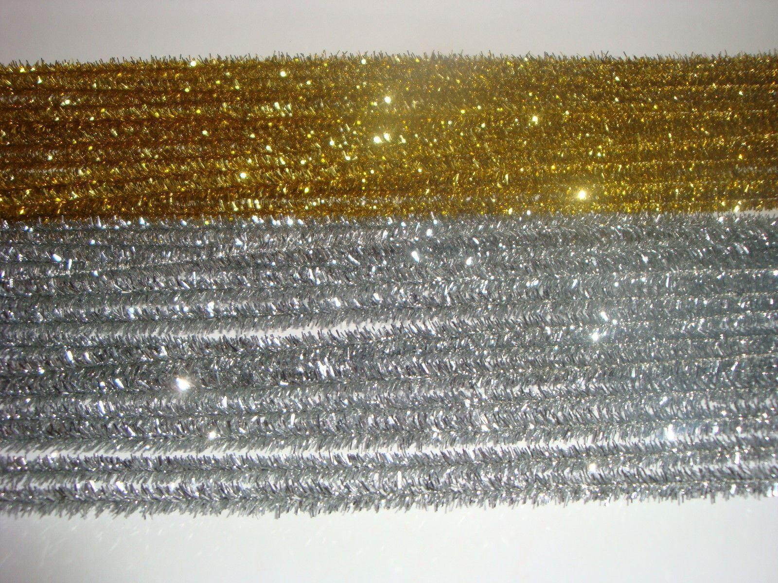 Kraftz-100-PC-6mm-12-034-30cm-CINIGLIA-PIPE-CLEANERS-Craft-STELI-fai-da-te-Art-amp-Craft miniatura 3