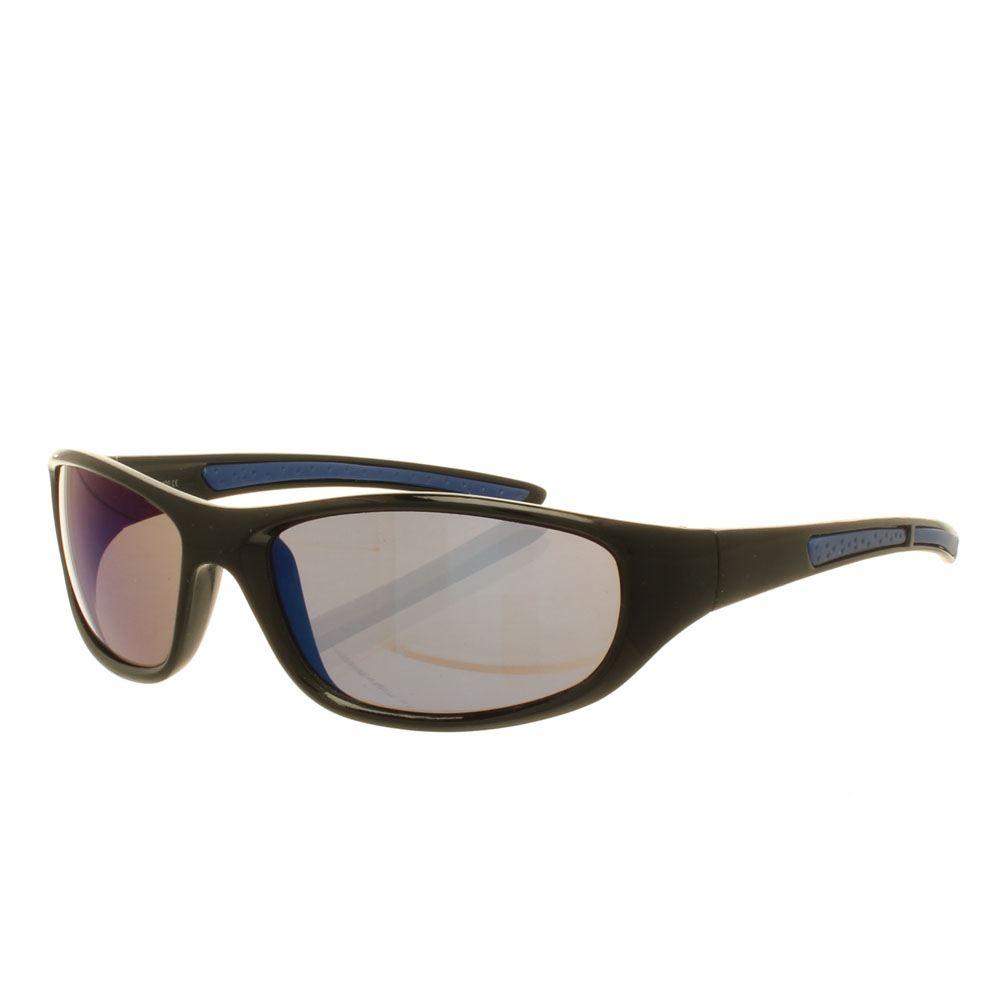 black mirrored ray ban aviators  colour: black/