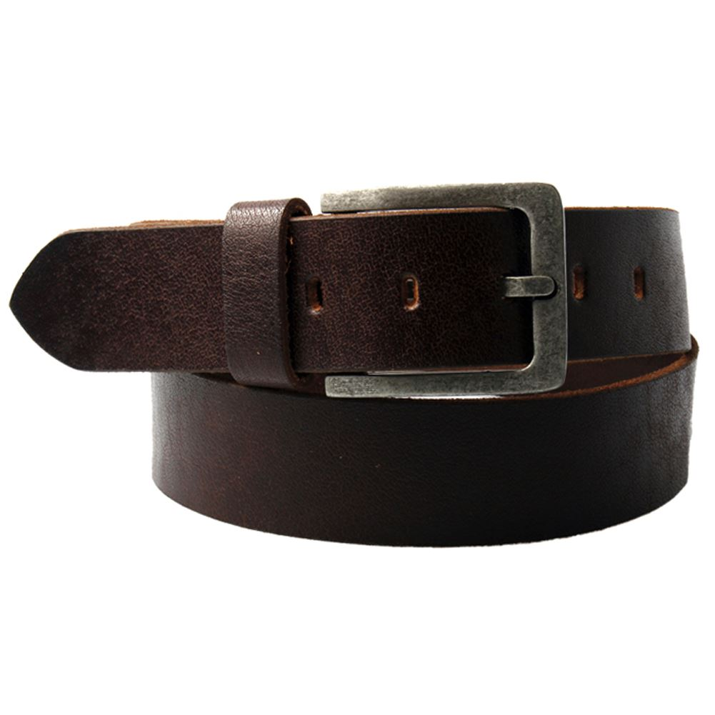 s m l buffalo leather brown belt with silver buckle ebay