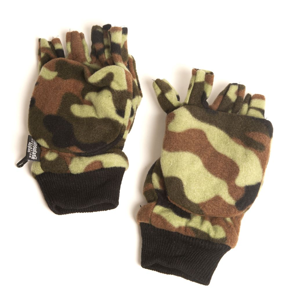 Mens gloves extra large - Mens Camo Pro Climate 40gram Thinsulate Mitten Combo Gloves Large Extra Large