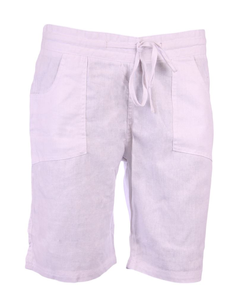 J116 LADIES SUMMER LINEN SHORTS WOMENS POCKETS ELASTICATED WAIST ...