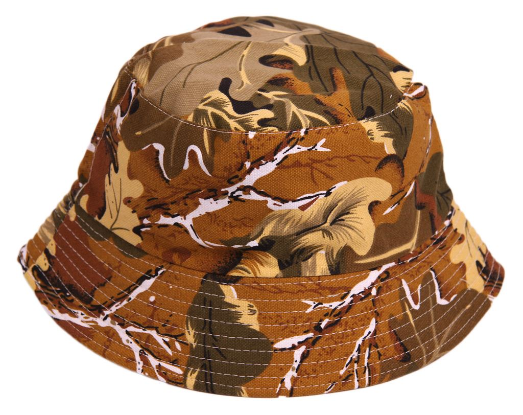 U104 MENS OUTDOOR CAMOUFLAGE FISHING HIKING WALKING FESTIVAL BEANIE BUCKET HAT