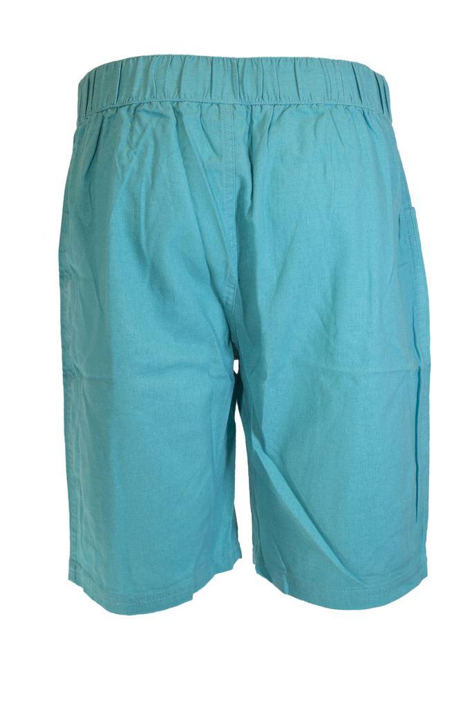J116 ladies summer linen shorts womens pockets elasticated for Women s fishing shorts