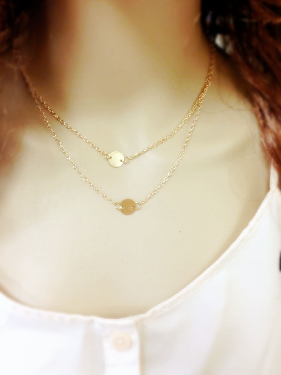 Celebrity Fashion Multi-Layers Geometry Charms Pendant Chain Necklace Lucky Gift