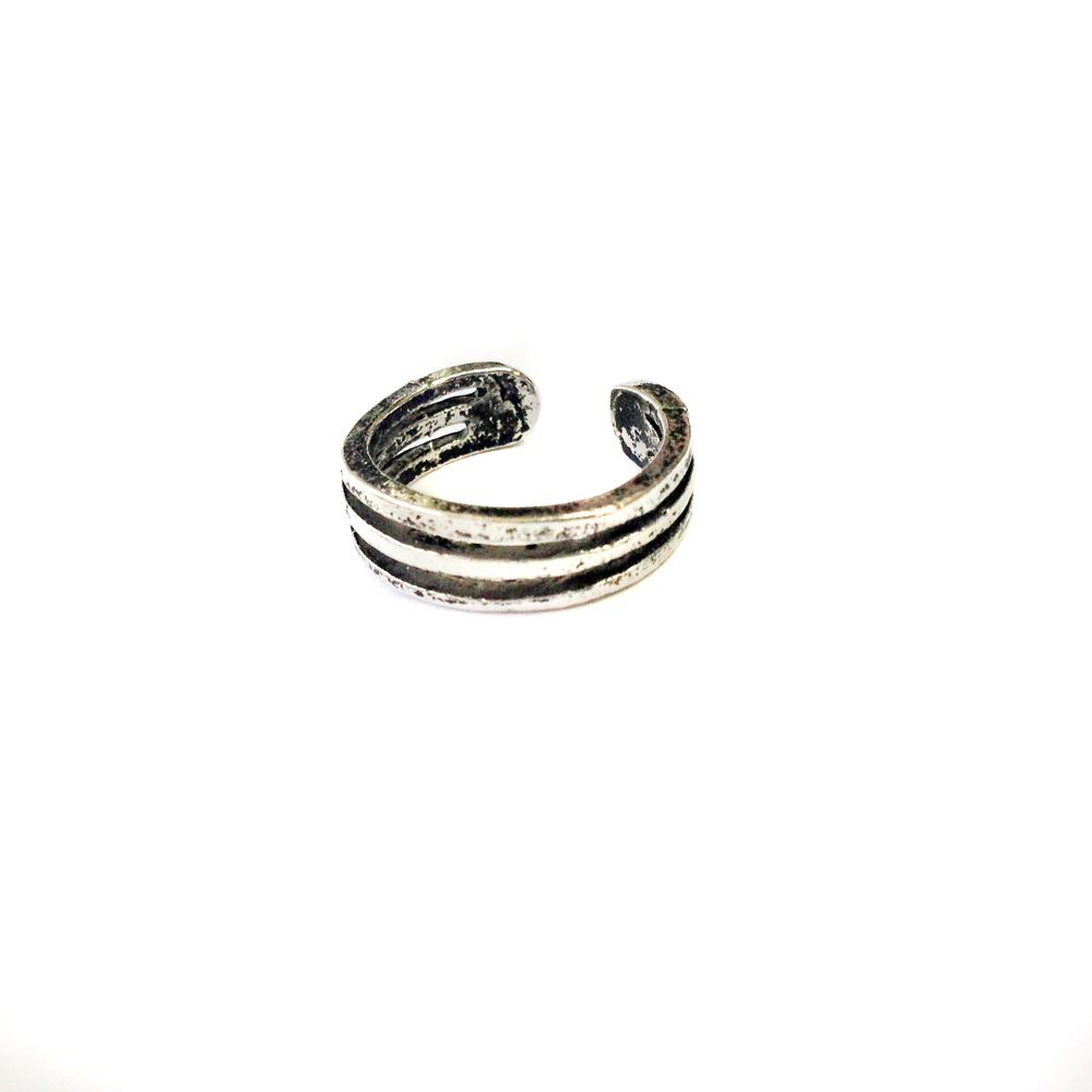 adjustable antique silver toe rings midi rings carving