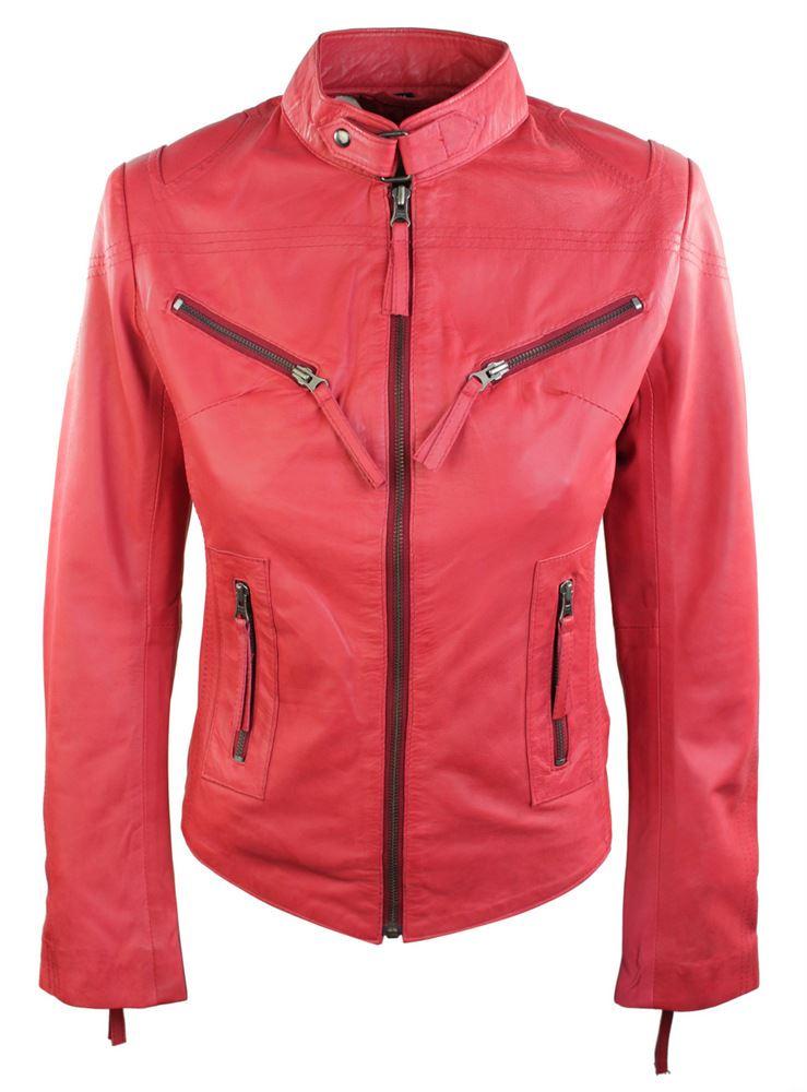 Ladies-Womens-Real-Leather-Vintage-Slim-Fit-Biker-Leather-Jacket