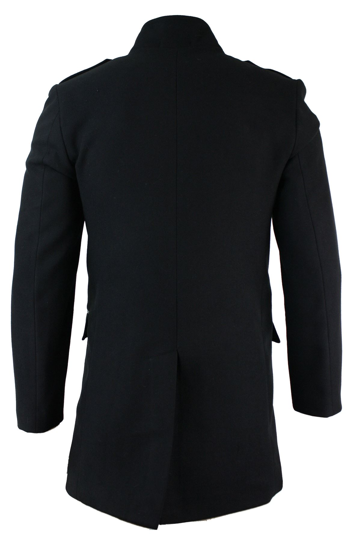 Mens military style overcoat