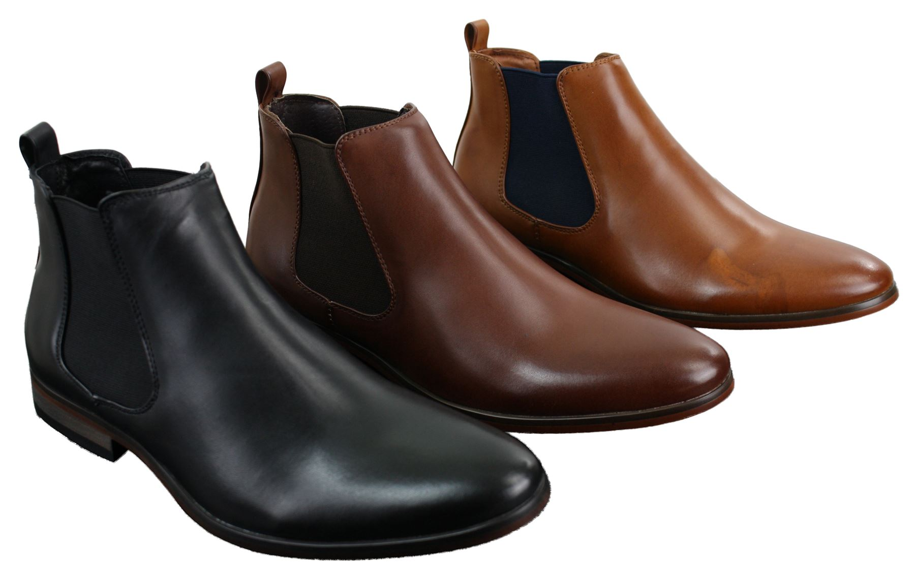 mens italian leather slip on ankle boots smart casual. Black Bedroom Furniture Sets. Home Design Ideas