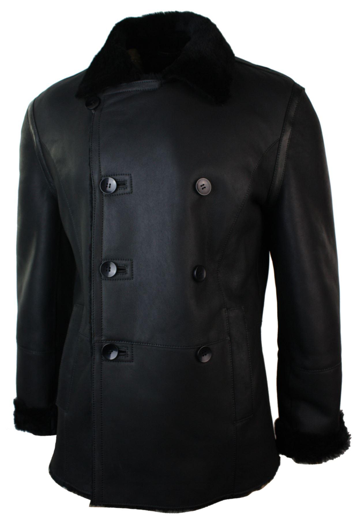 veste peau de mouton homme fermeture double veston crois. Black Bedroom Furniture Sets. Home Design Ideas