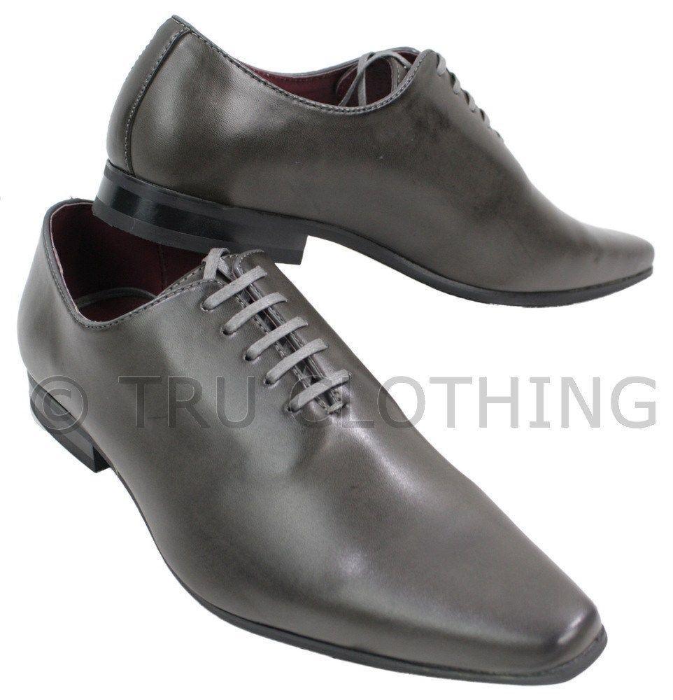chaussure de mariage grise homme