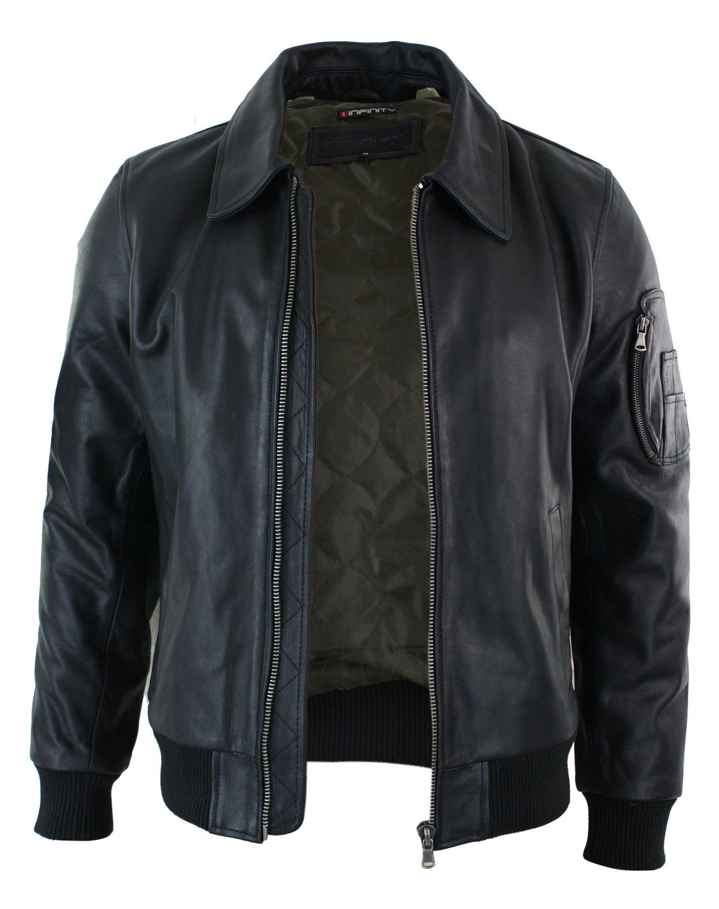 Leather ma1 jacket