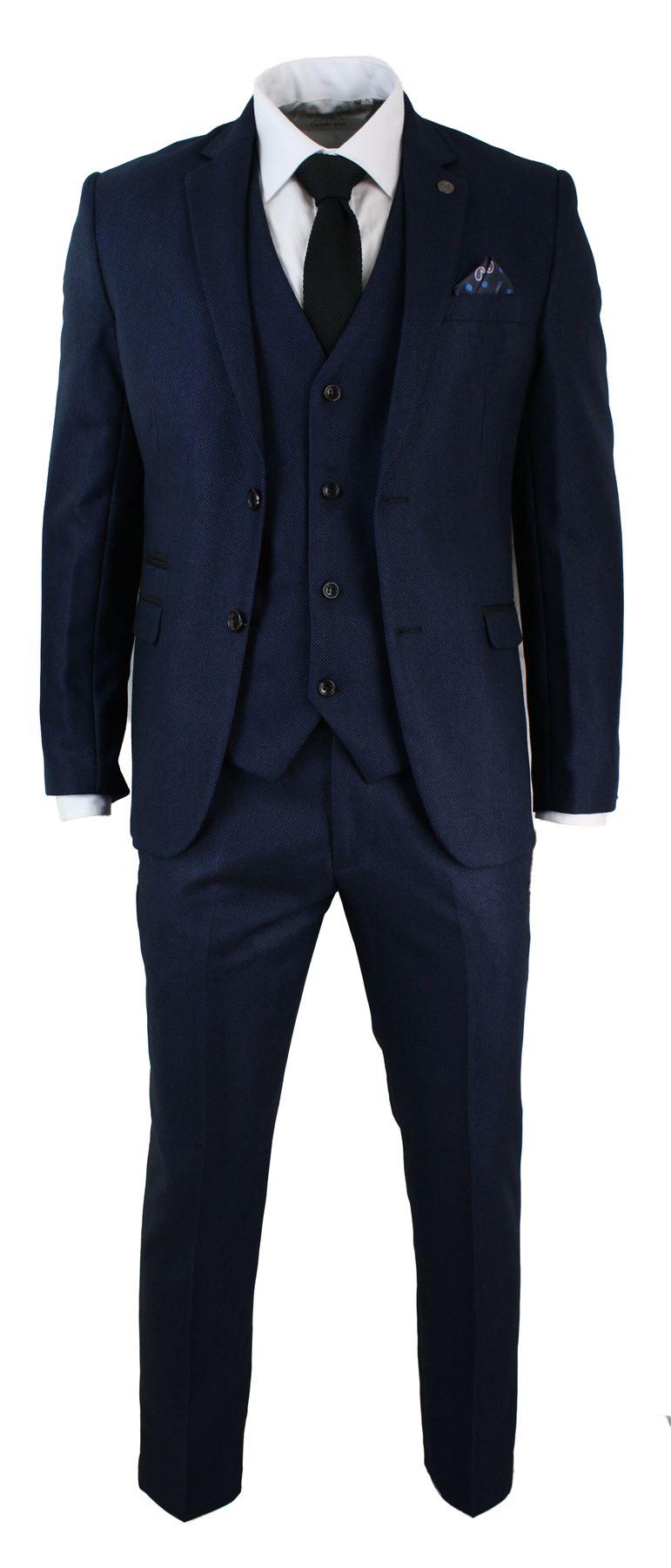 costume 3 pi ces homme coupe ceintr e bleu noir habill chic formel mariages ebay. Black Bedroom Furniture Sets. Home Design Ideas
