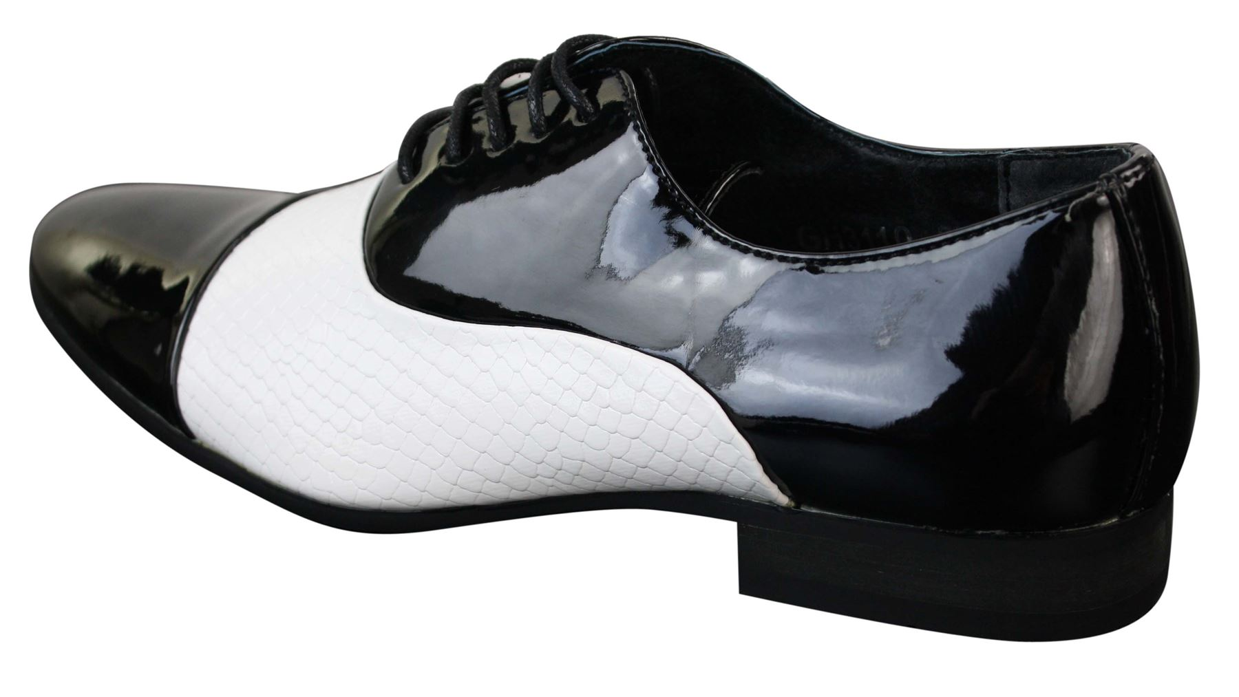 mens laced smart shiny patent snake skin italian leather
