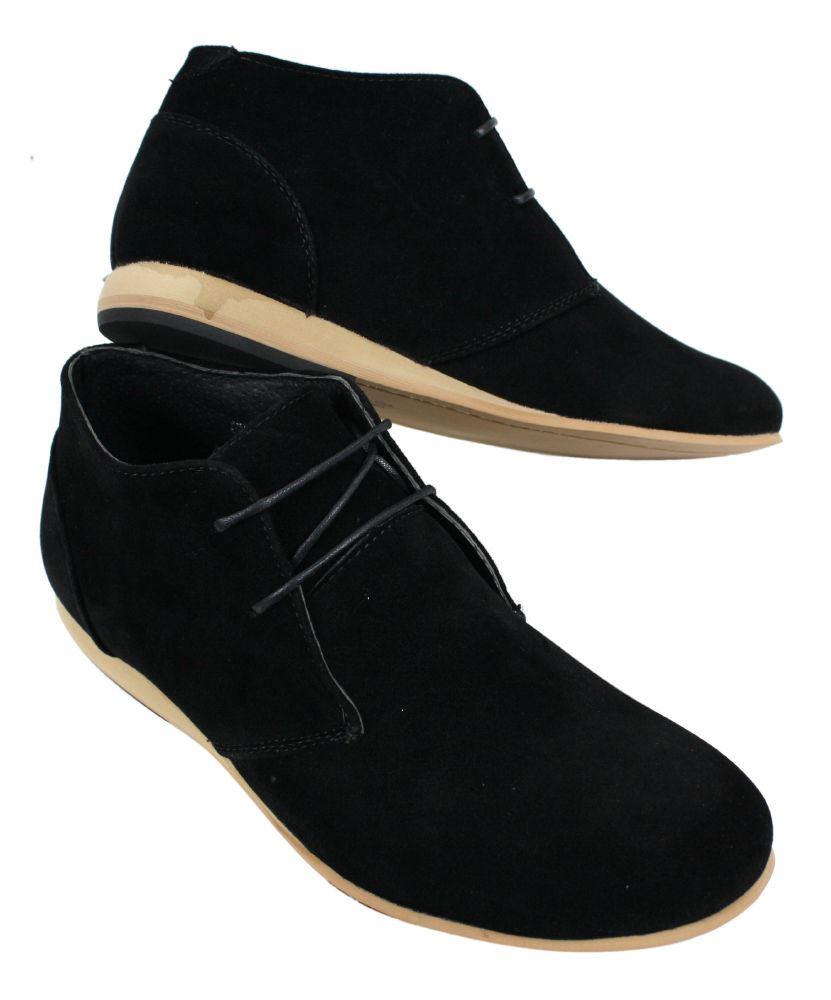 Bottines Chaussures Montantes Hommes Noir Beige Brun Bleu