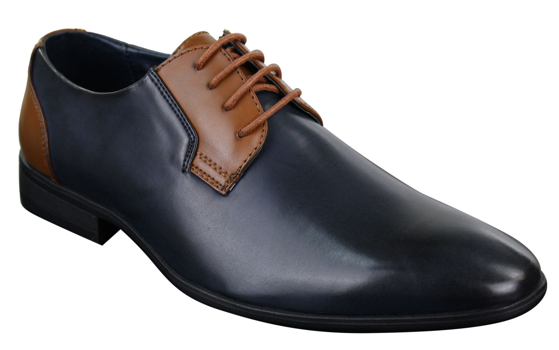 mens smart casual formal laced leather italian shoes