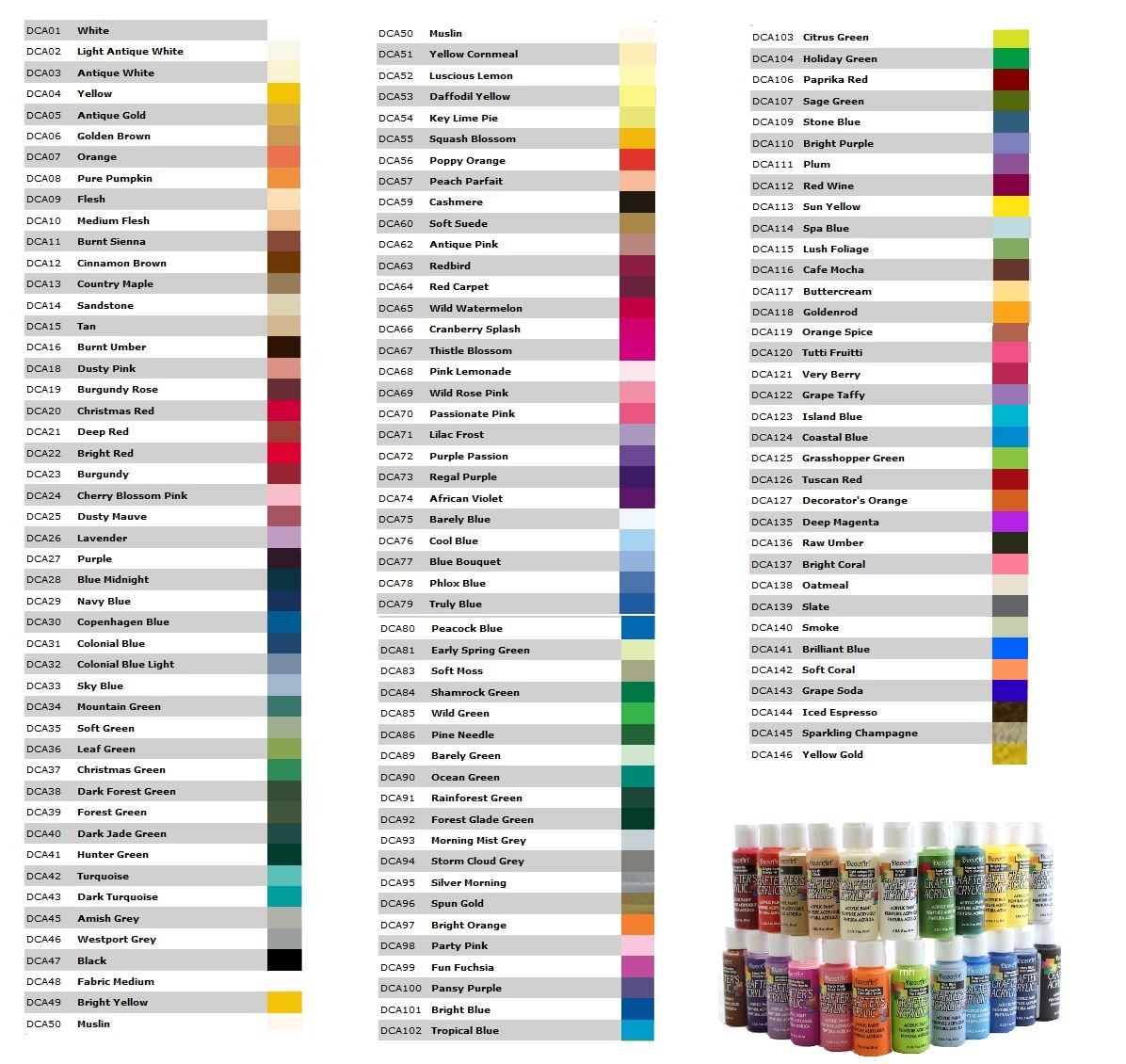Decoart crafters acrylic paint 59ml deco art acrylic for Art deco colours for painting