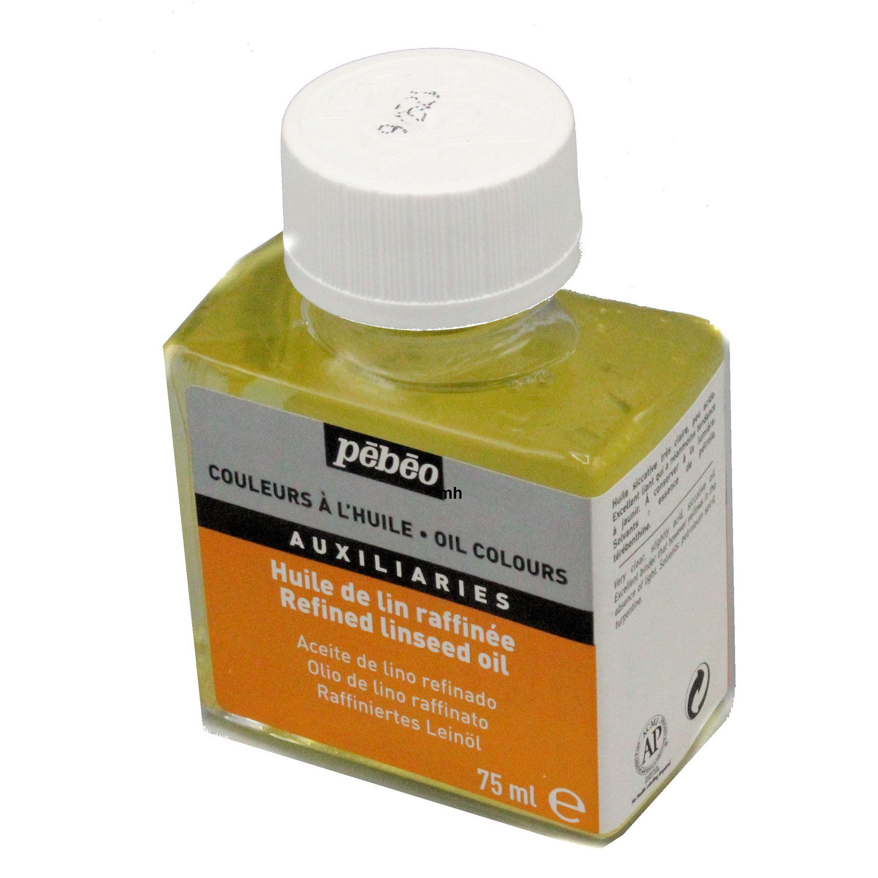 Pebeo Refined Linseed Oil 75ml Artists Oil Paint Medium