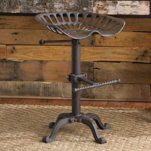 Vintage Tractor Seat Bar Stool Rustic Cast Iron Industrial