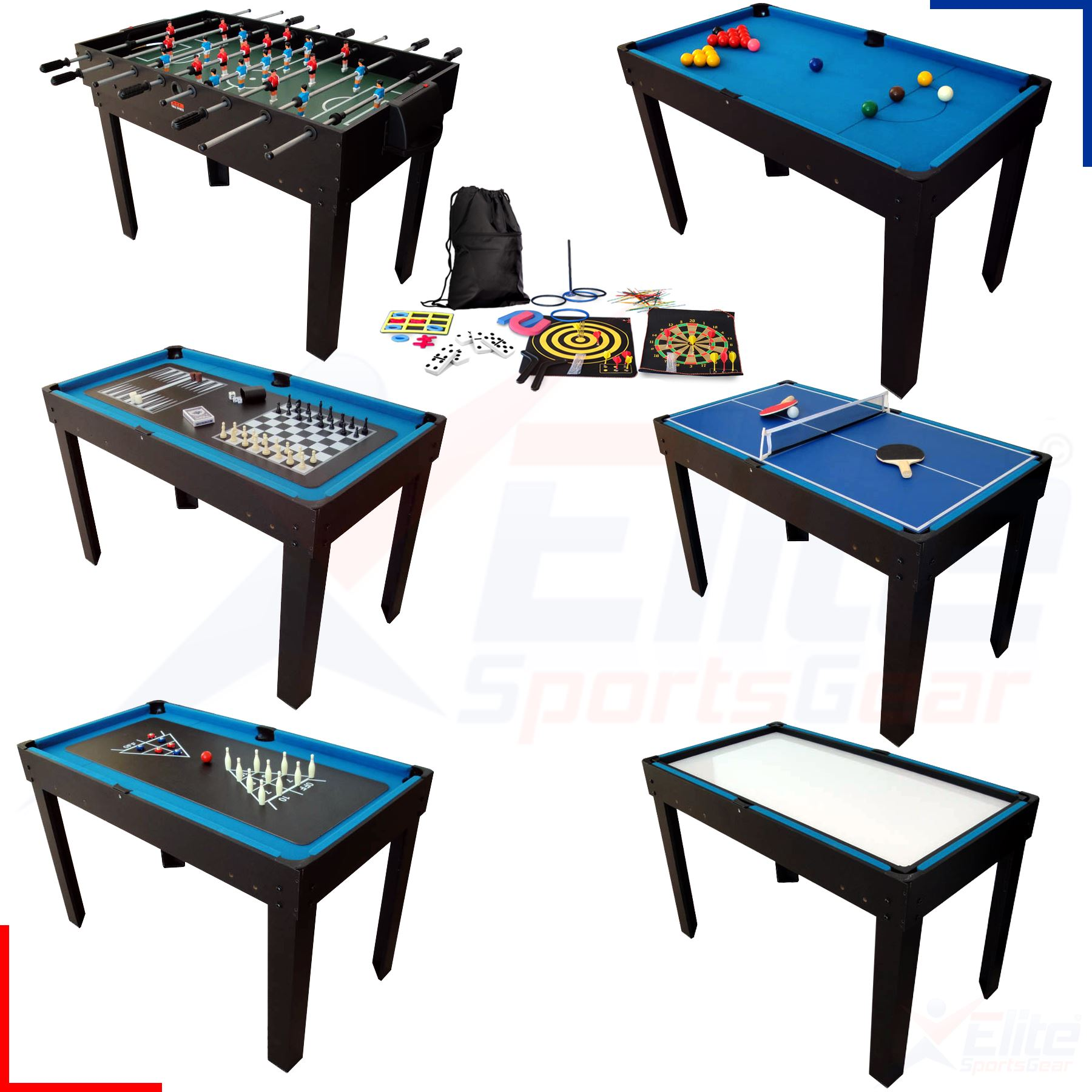 Bce 12 in 1 multi family games table snooker football for 12 in 1 game table