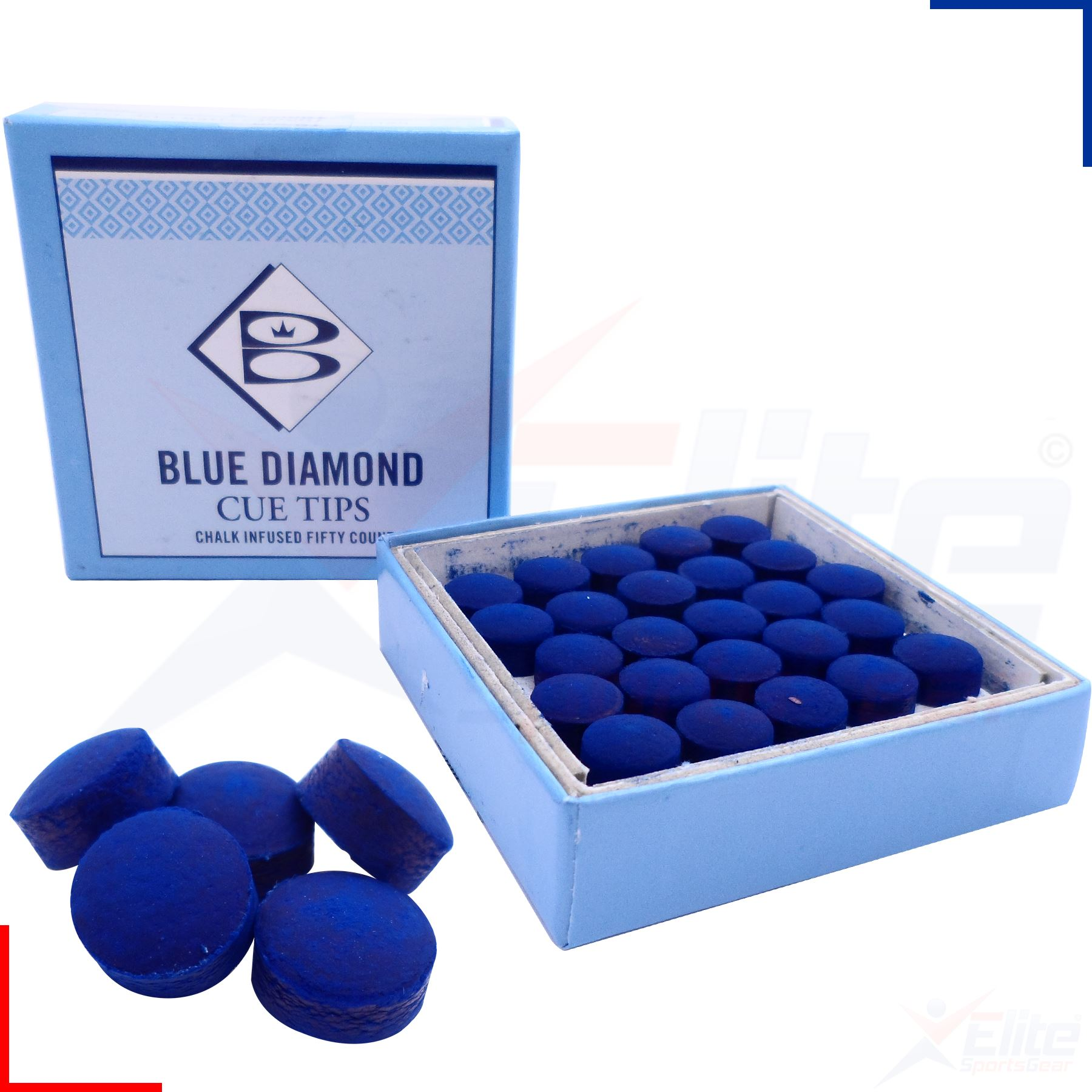 Blue Diamond Leather Snooker Pool Replacement Cue Tips 9