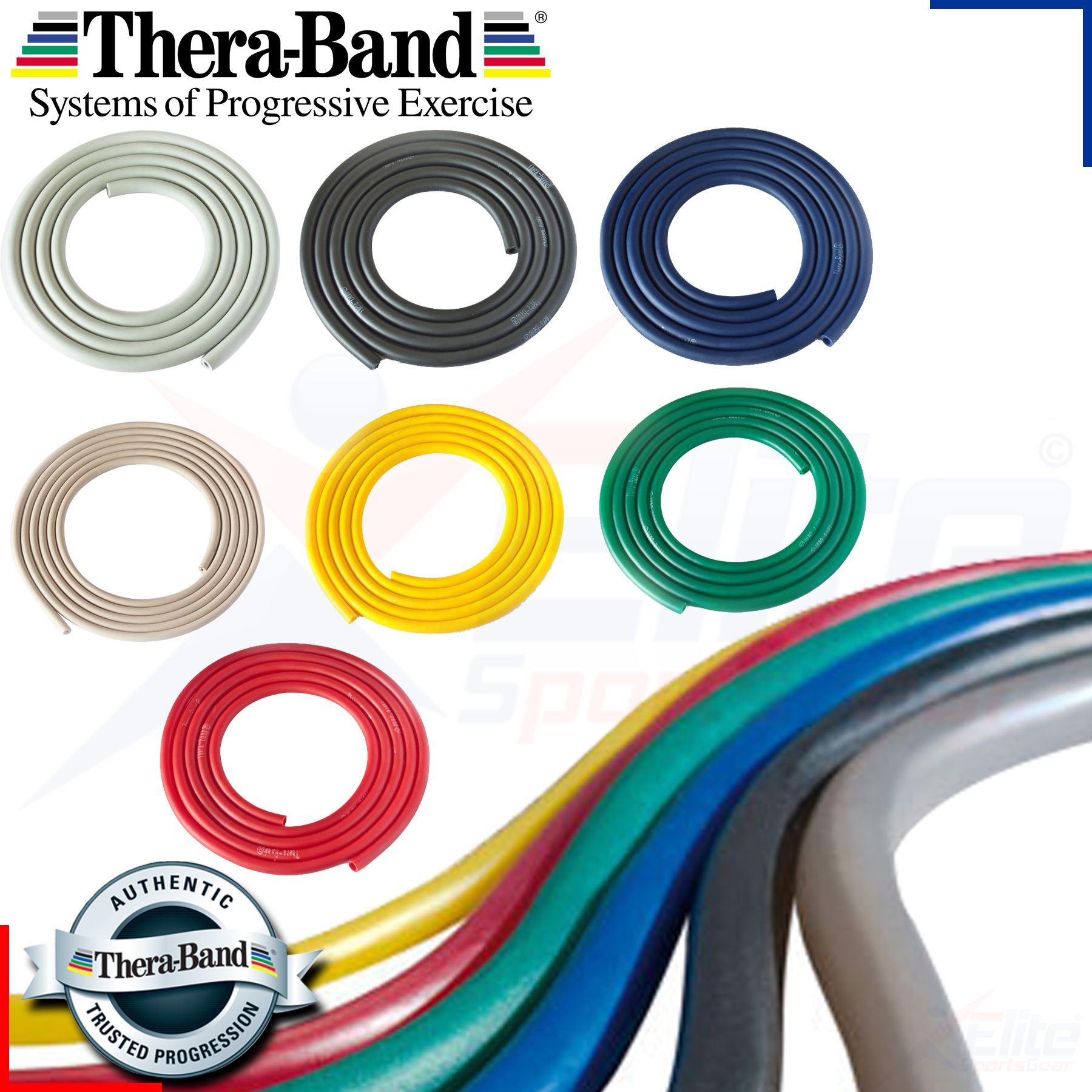 Theraband Tubing Resistance Fitness Pilates Exercise
