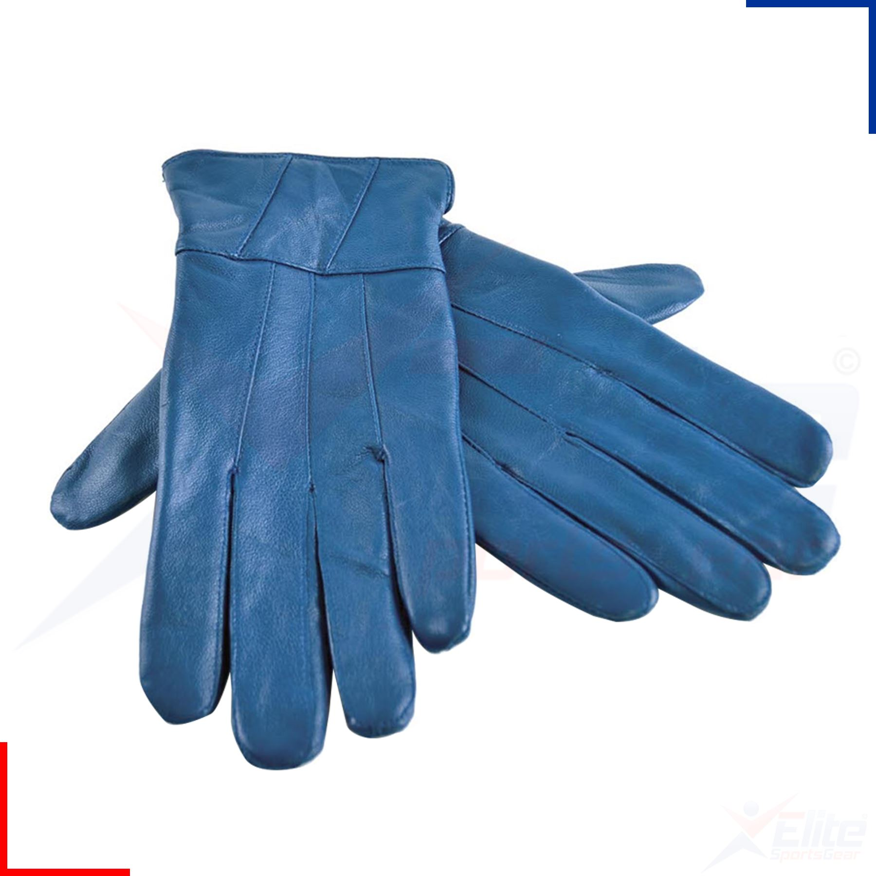 Ladies leather gloves blue - Ladies Women Sheepskin 100 Leather Gloves Soft Lining
