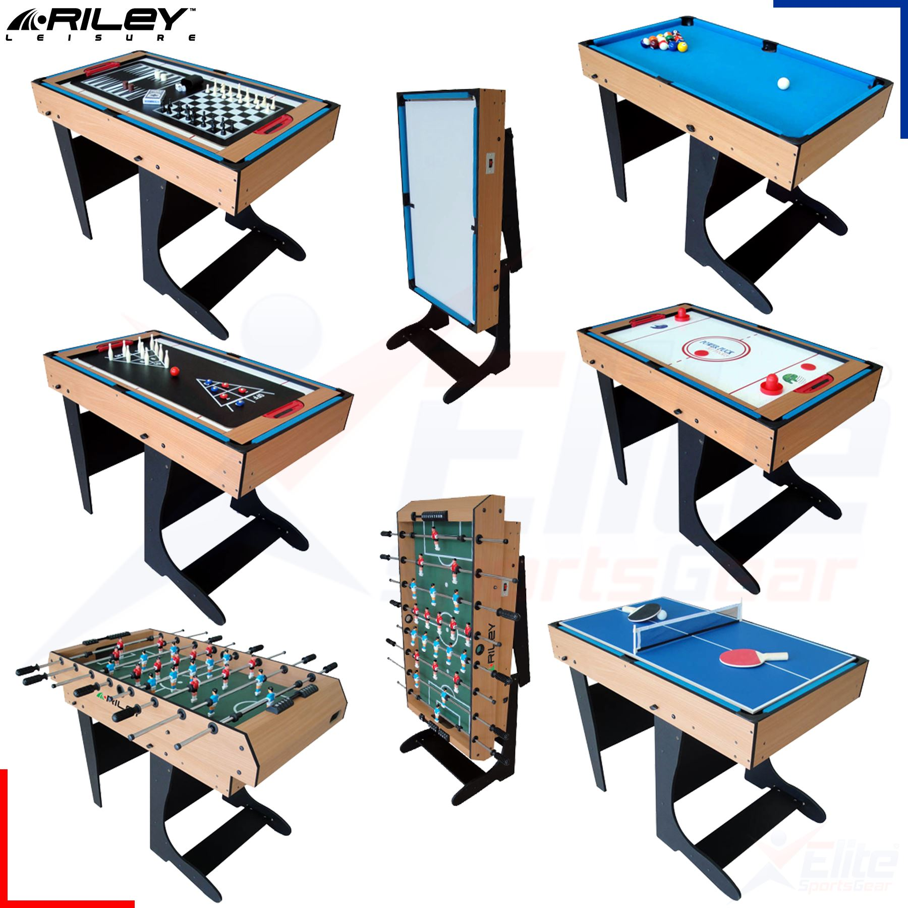 Riley 12 in 1 multi family games table 4ft football for 12 in 1 game table groupon