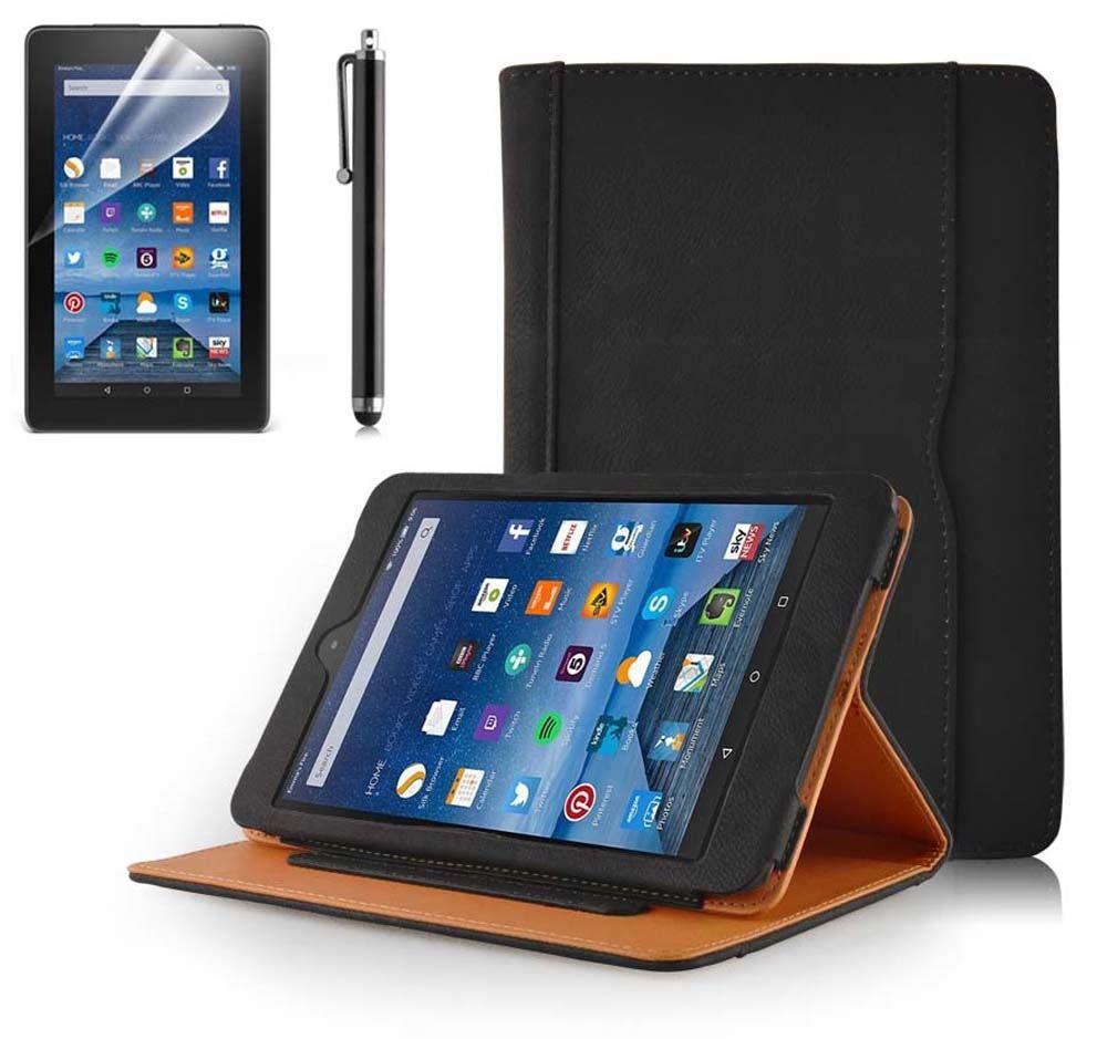 genuine inventcase premium leather case stand for amazon fire 7 2015 tablet ebay. Black Bedroom Furniture Sets. Home Design Ideas