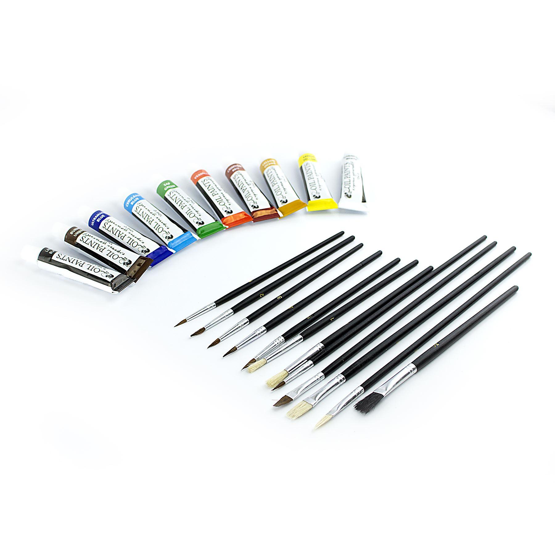25pcs set wooden 16 034 easel acrylic oil watercolour paints brushes