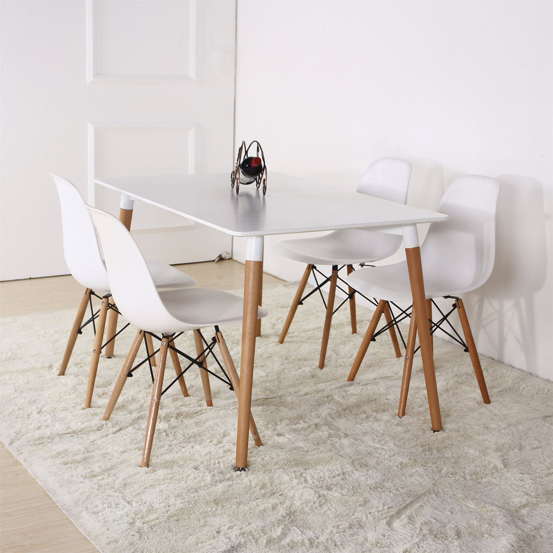 Eames eiffel chair dining room - Charles Ray Eames Eiffel Inspired Dining Living Room Office Table