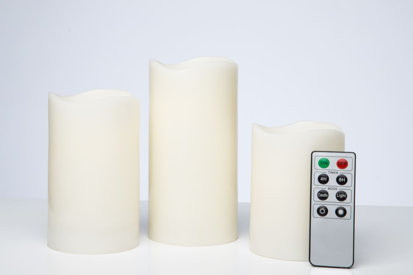 3x led flameless amber colour changing wax candles with timer remote. Black Bedroom Furniture Sets. Home Design Ideas