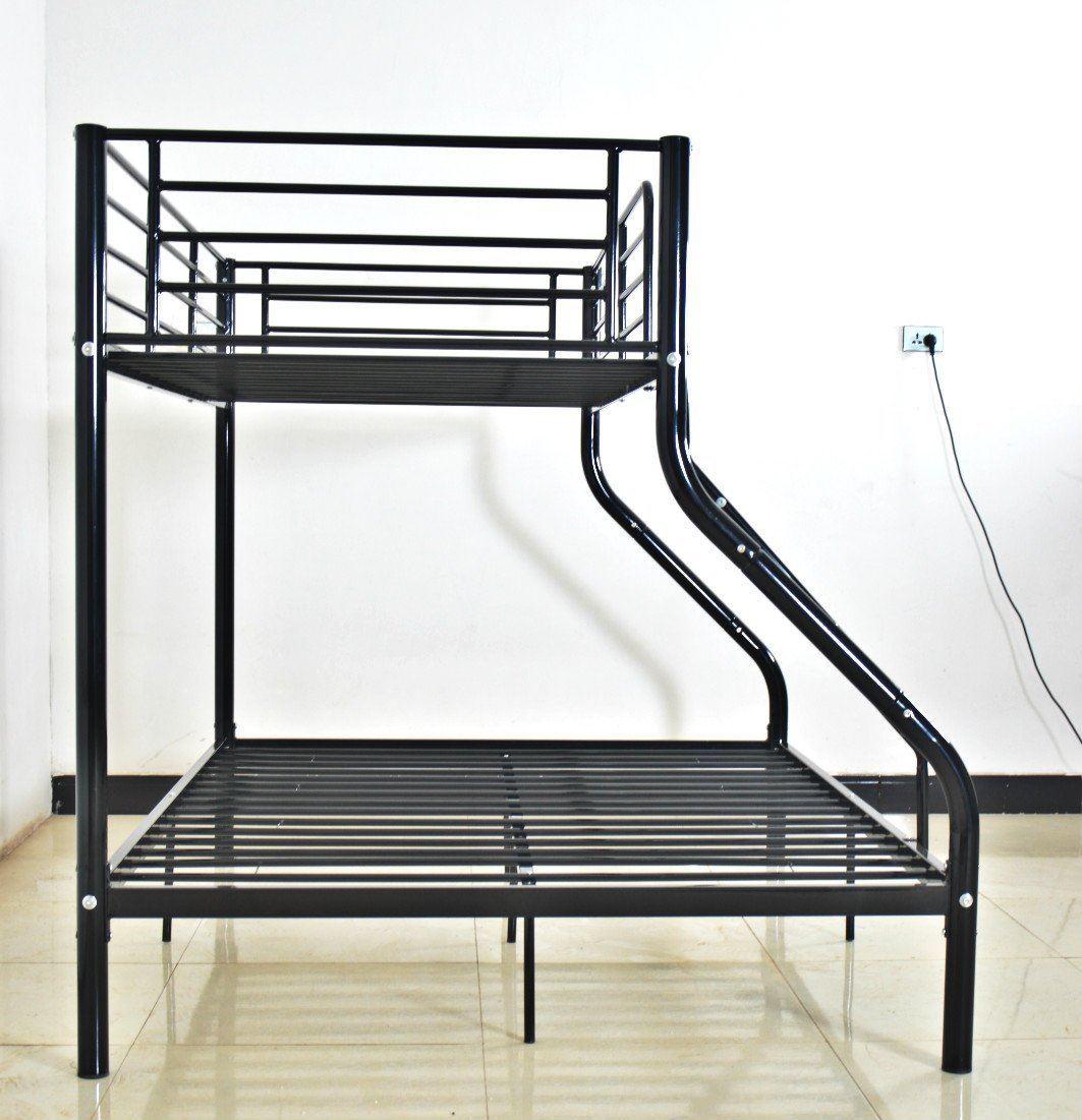 Single double triple children metal frame bunk bed sleeper for Single bunk bed frame
