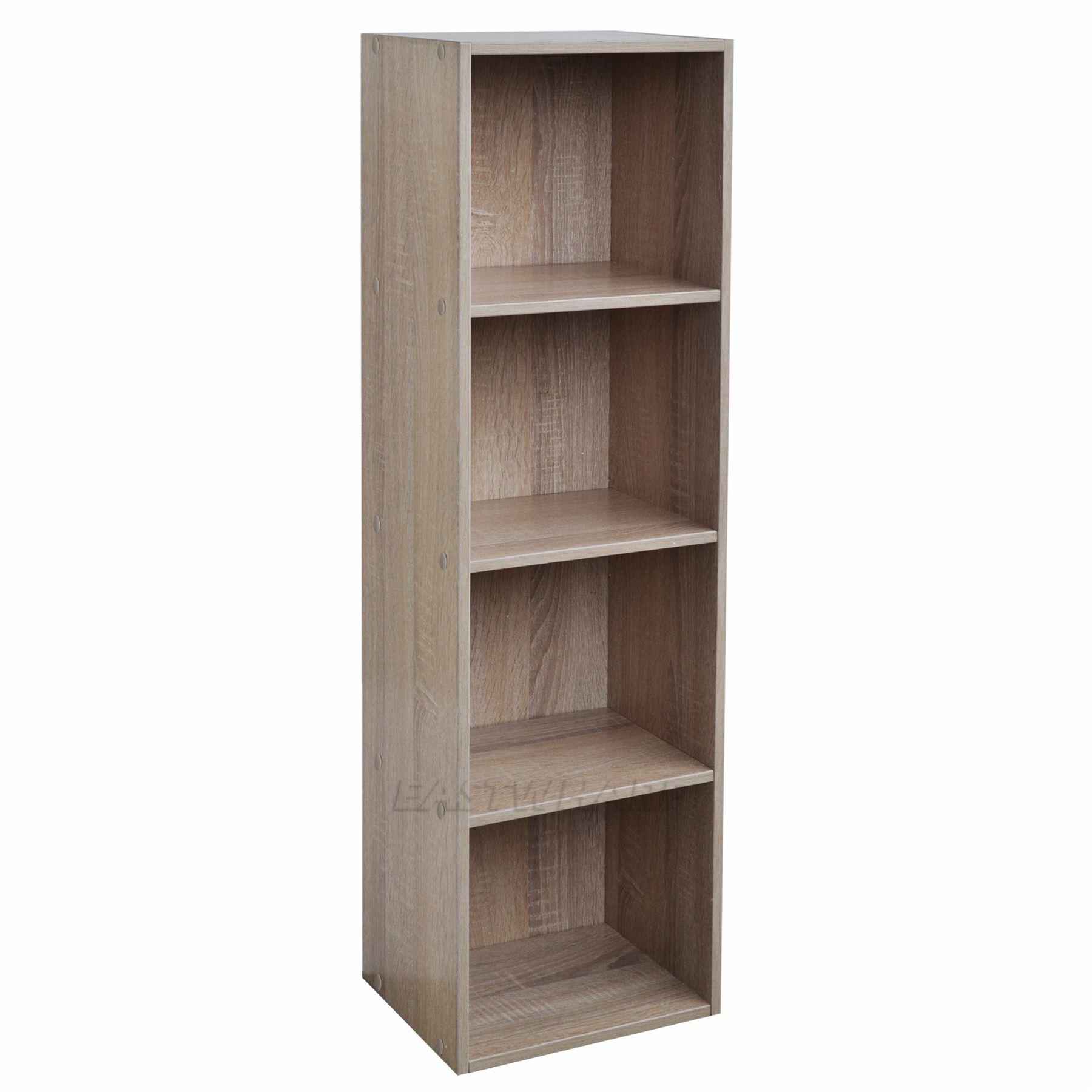 Wooden Bookcase Shelving Display Storage Wood Shelf Shelves Units Multiple Tiers | eBay