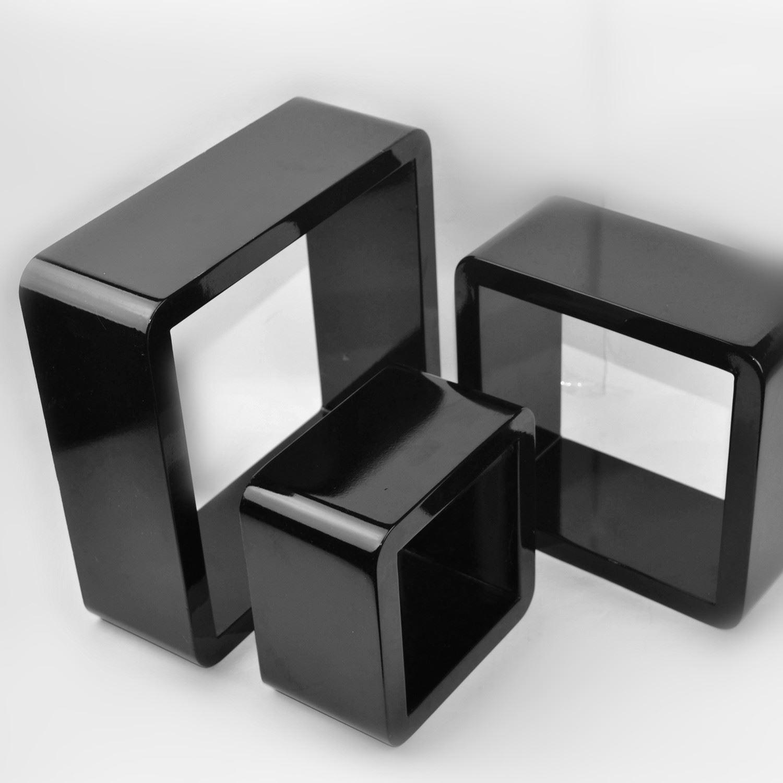 Cube wall shelves mdf set of 3 pcs of shelf round corner floating cube wall shelves mdf set of 3 pcs amipublicfo Choice Image