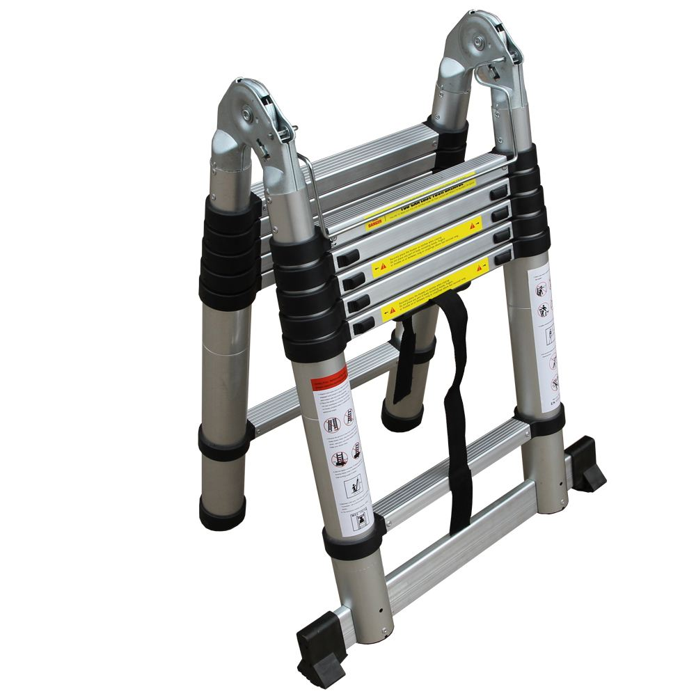 6ft Multi Purpose Step Ladders : M ft multi purpose folding telescopic aluminium a