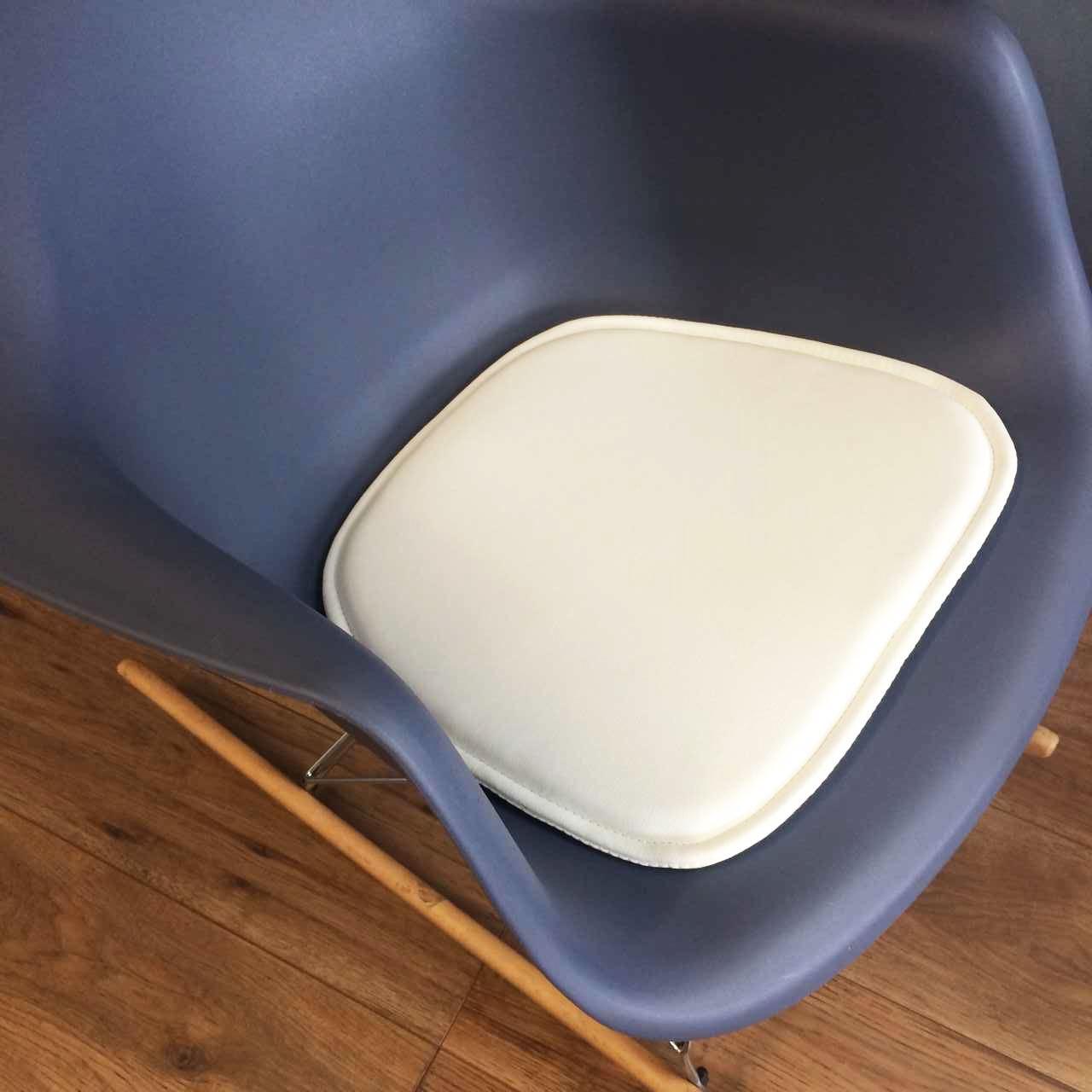 Charles Eames Faux Leather Seat Pad Cushions Compatible With DAW DAR RAR Chai