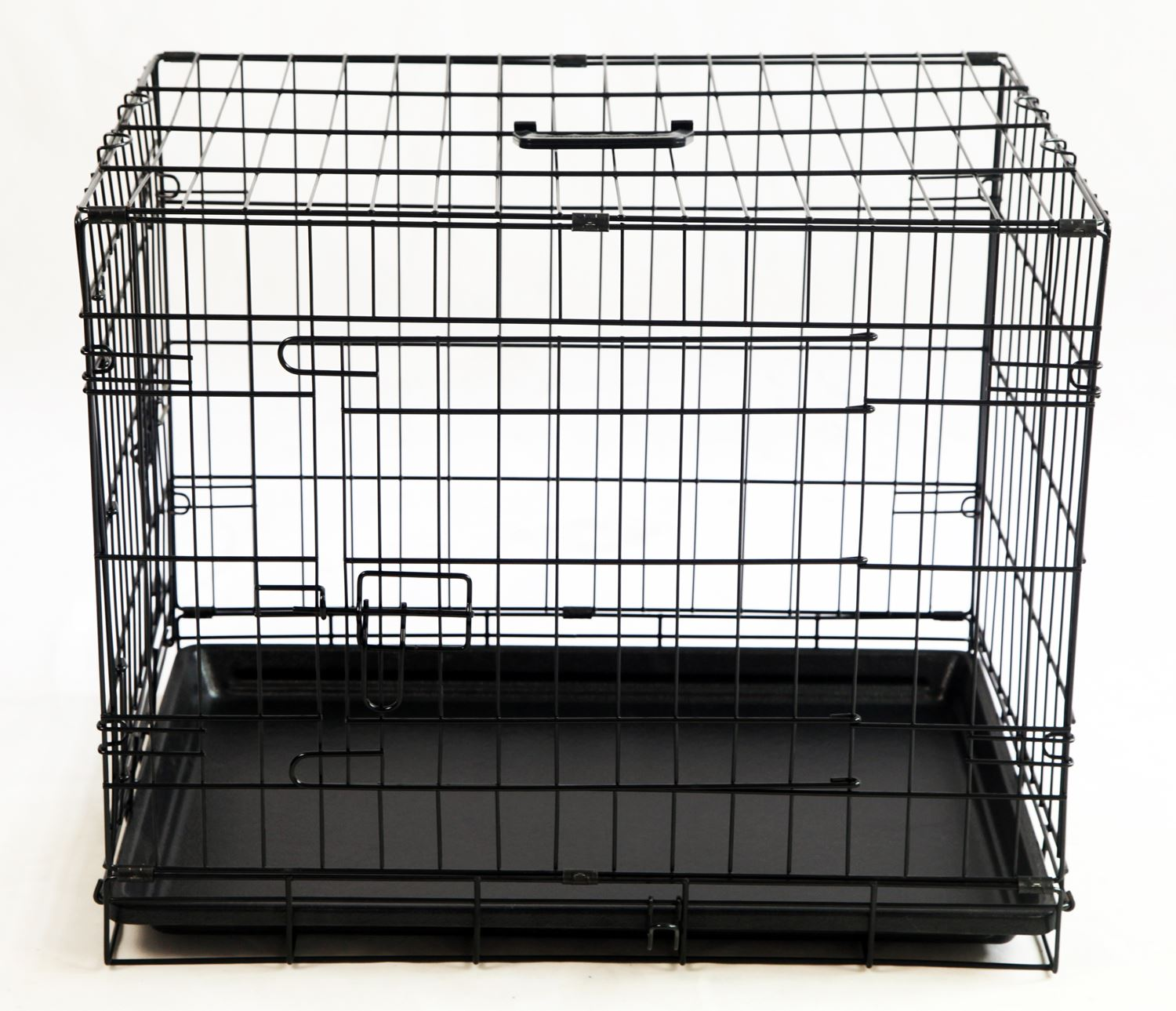 Dog Crates Cages Puppy Pet folding metal foldable 24 30 36 42 48inch with handle