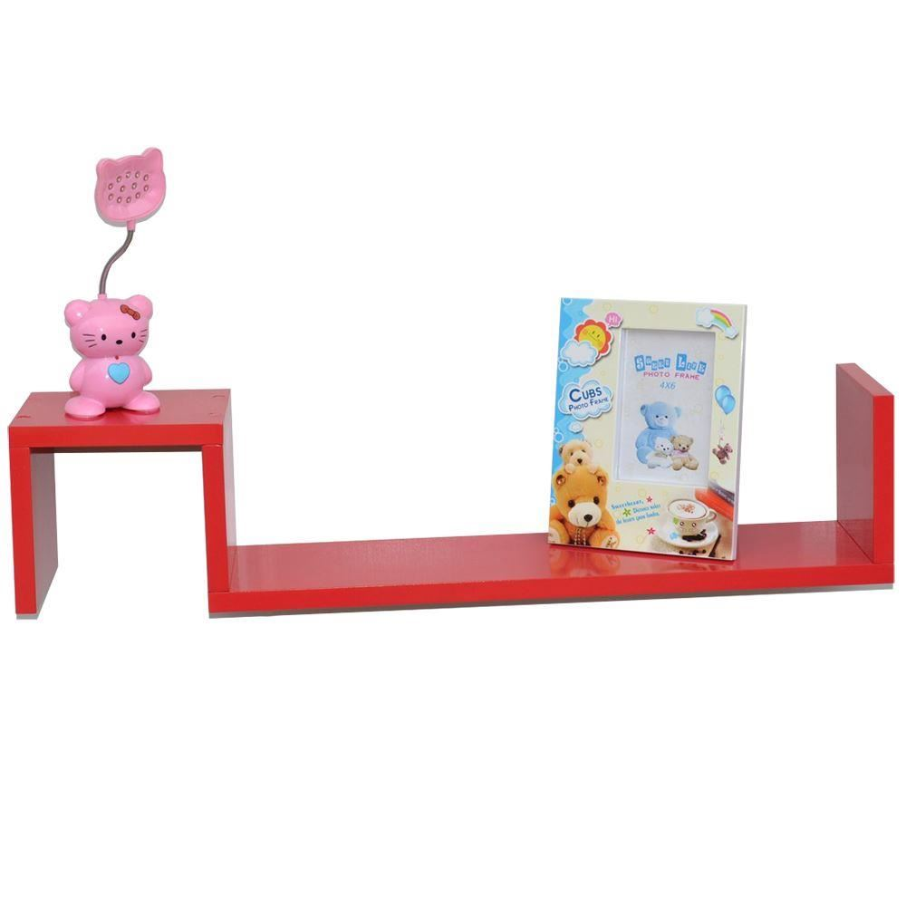 Two-S-Shaped-High-Gloss-Floating-Wall-Shelves-Units-DVD-CD-BOOK-Shelf-Display