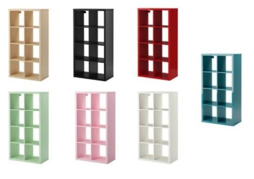ikea kallax cube storage series shelf shelving units bookcase display expedit ebay. Black Bedroom Furniture Sets. Home Design Ideas