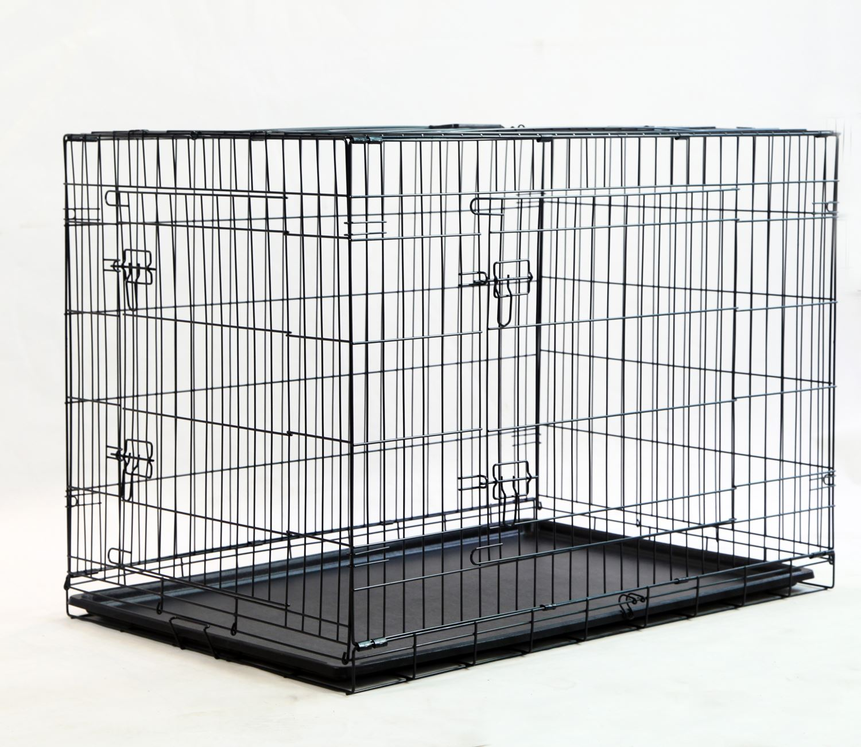 cage pliante animaux chiot chien chat m tal caisse 24 30. Black Bedroom Furniture Sets. Home Design Ideas