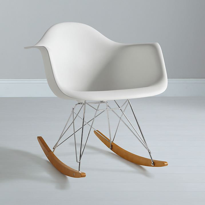 Eames rocking chair rar rocker armchair retro lounge for Rocking chair eames vitra