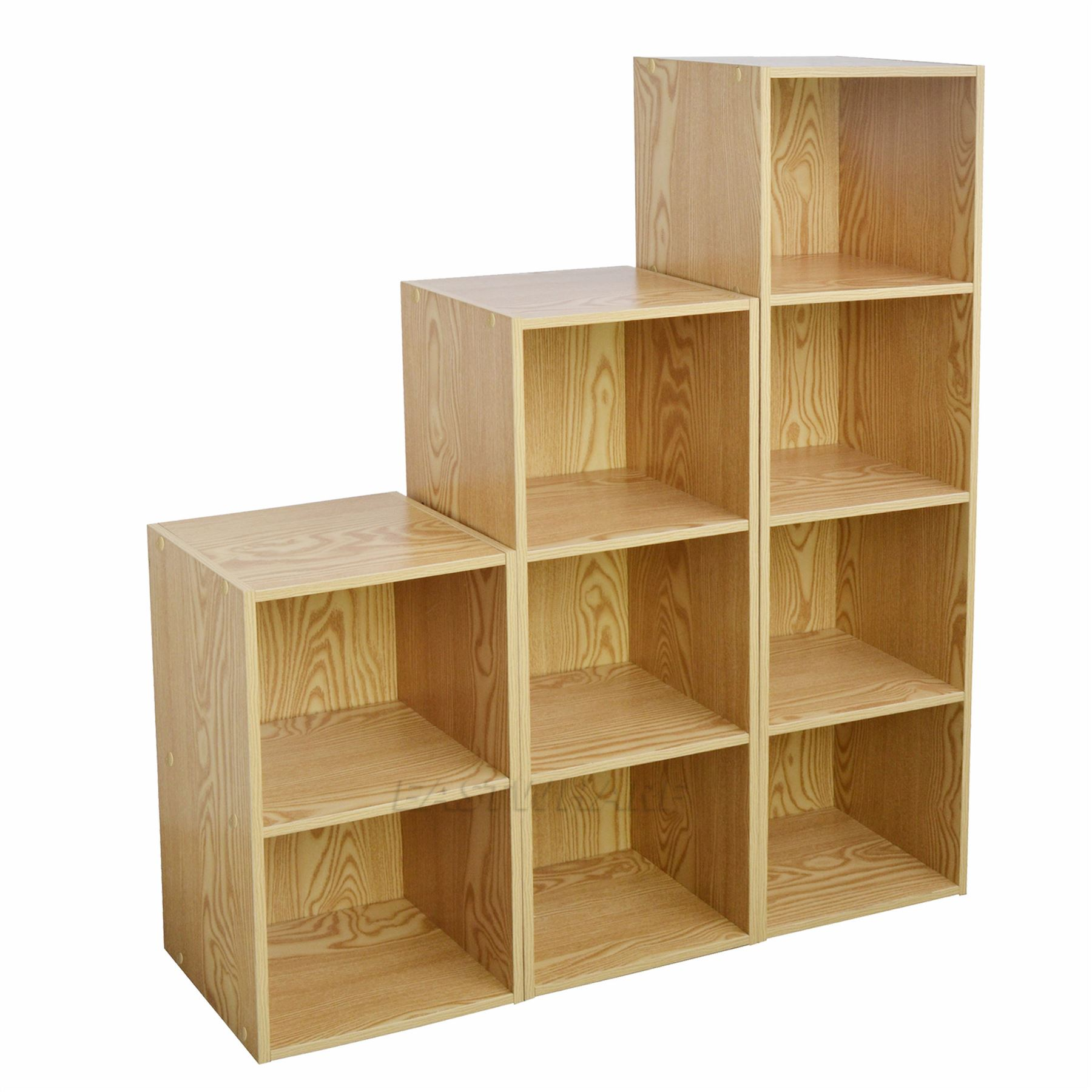 Wooden bookcase shelving display storage wood shelf