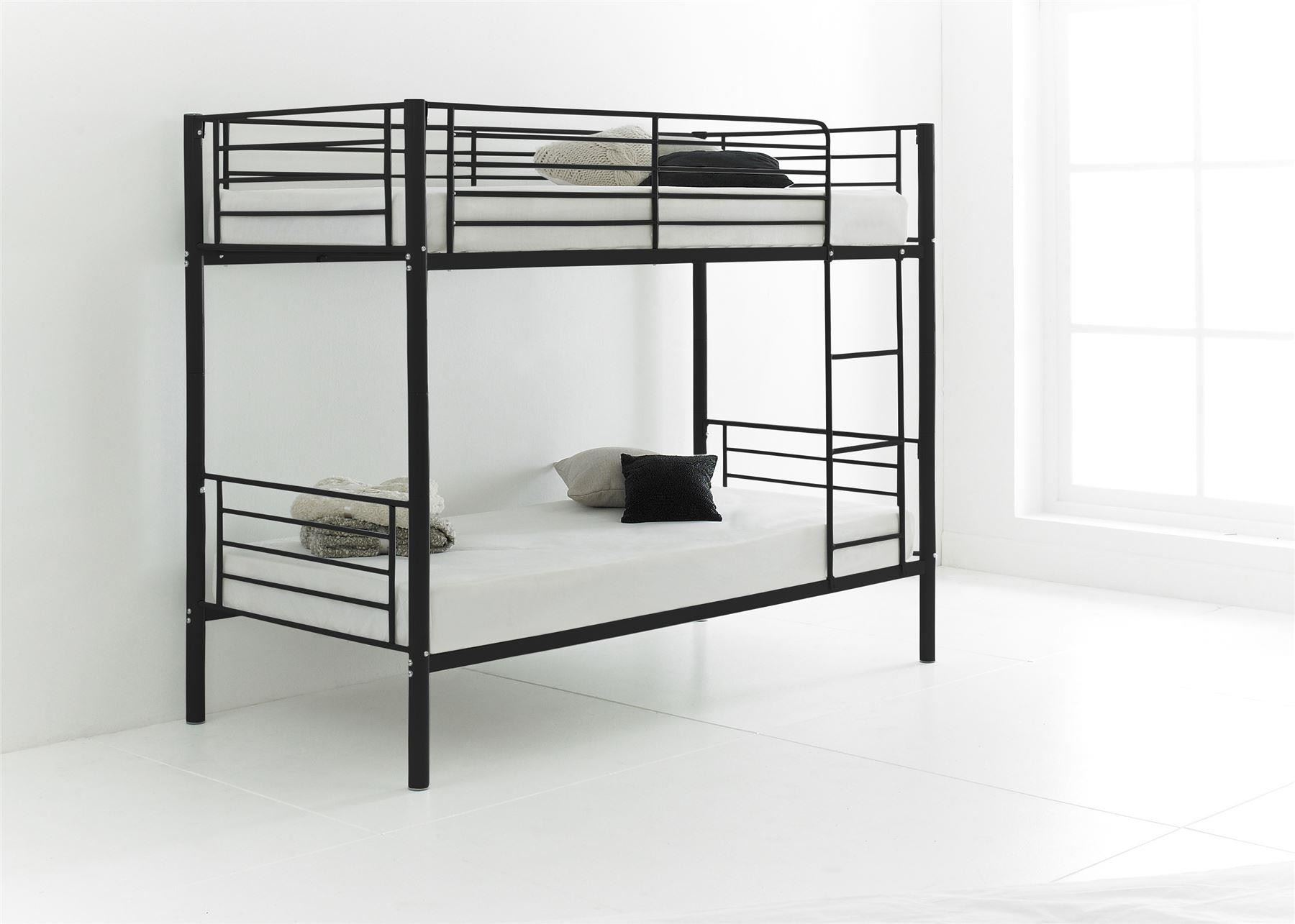 3ft single children bunk bed metal frame for kids twin sleeper mattress optional ebay. Black Bedroom Furniture Sets. Home Design Ideas