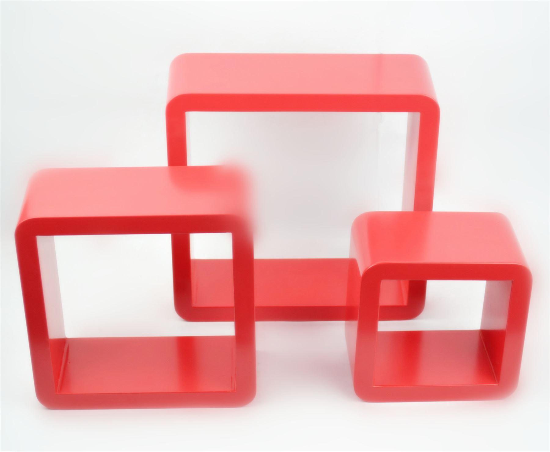 cube wall shelves mdf set of 3 pcs of shelf round corner flo