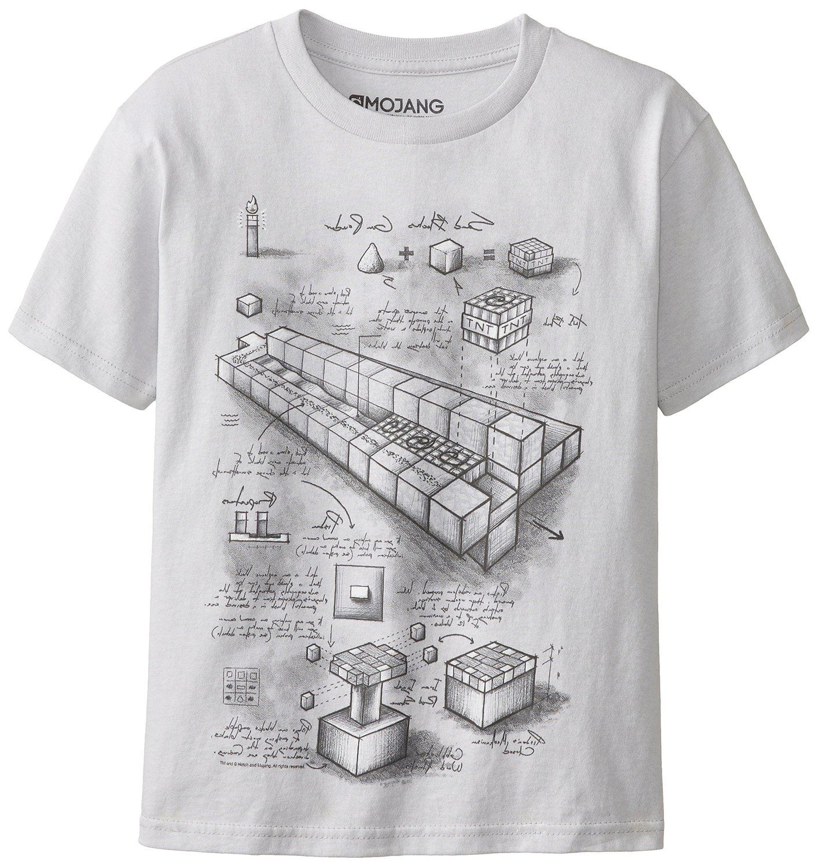 Minecraft official licensed mine craft tnt blueprint t for Mine craft t shirt