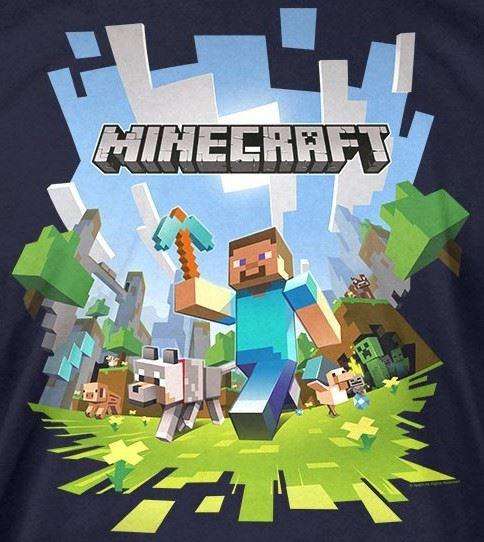 Minecraft T-shirt | Mine Craft Tshirt ADVENTURE LOGO Kids Age 5-13 ...