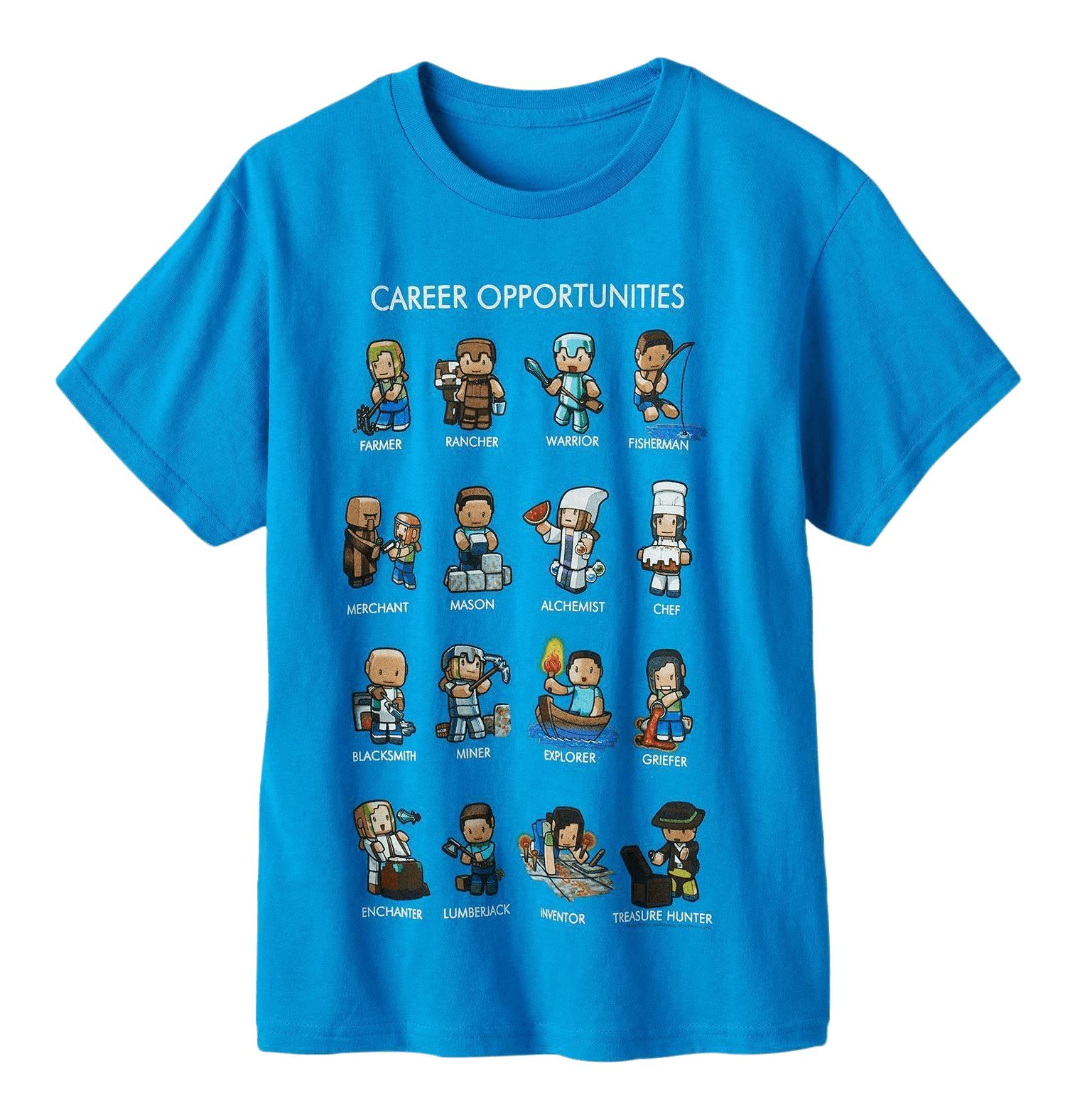 Minecraft career opportunities t shirt mine craft new t for Mine craft t shirt