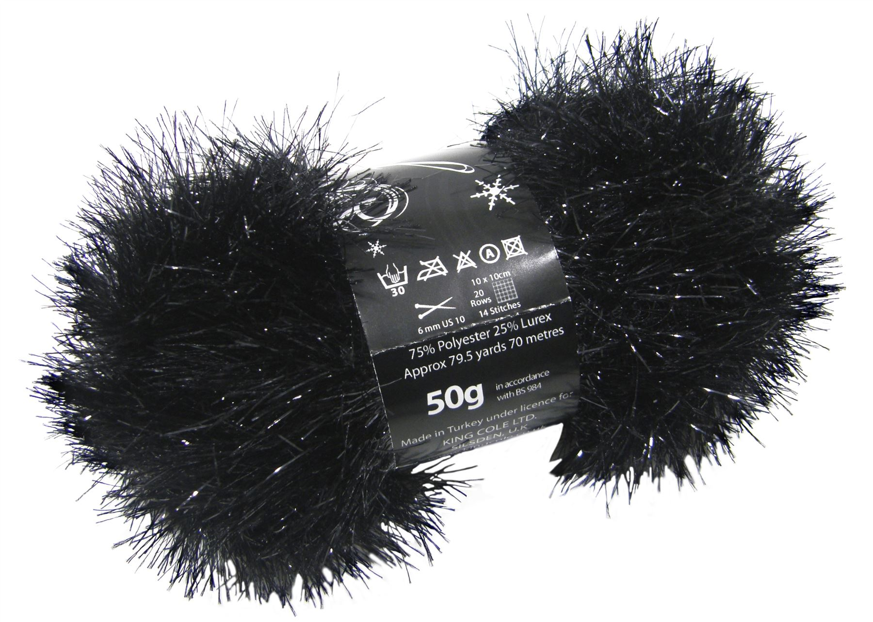 Tinsel Sparkle Eyelash Chunky 50g Wool Yarn Ball Free Scarf Pattern ...