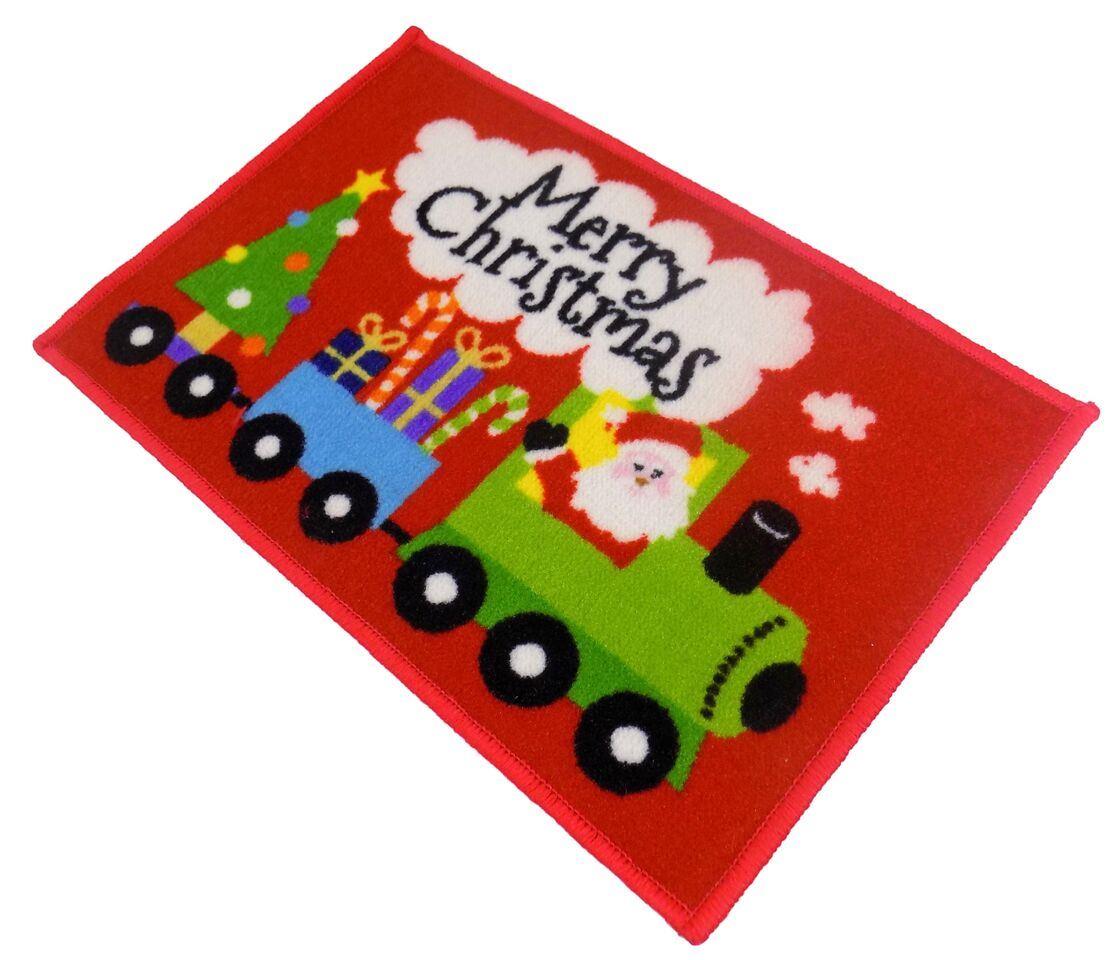 Christmas soft childrens kids novelty rug mat 40 x 60cm 15 for Novelty children s fabric
